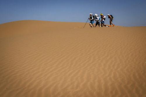مسابقات ماراتون صحرا در مراکش/ خبرگزاری فرانسه