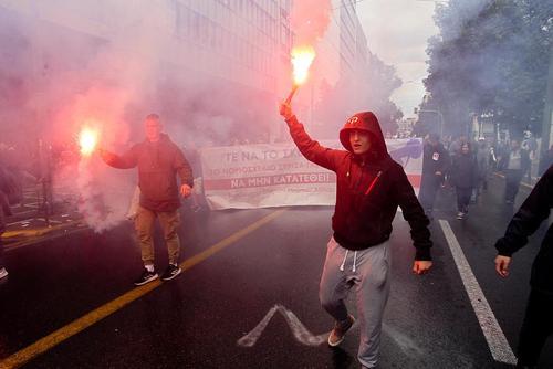 تظاهرات دانشجویان و اساتید یونانی در اعتراض به اصلاح نظام آموزشی