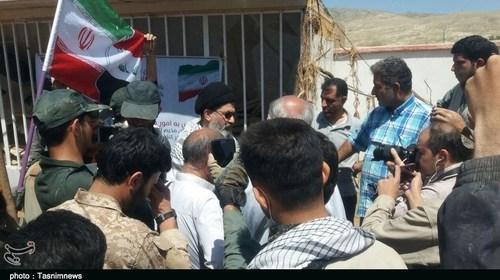 حضور معاون حشد الشعبی عراق در شهر سیلزده پلدختر (عکس)