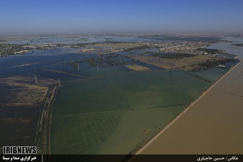 عکس های هوایی سیلاب خوزستان