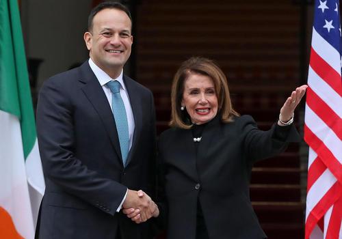 استقبال رییس مجلس ایرلند از رییس مجلس نمایندگان ایالات متحده آمریکا در شهر دوبلین/PA
