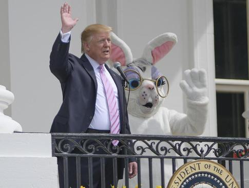 ترامپ در مراسم عید پاک در کاخ سفید