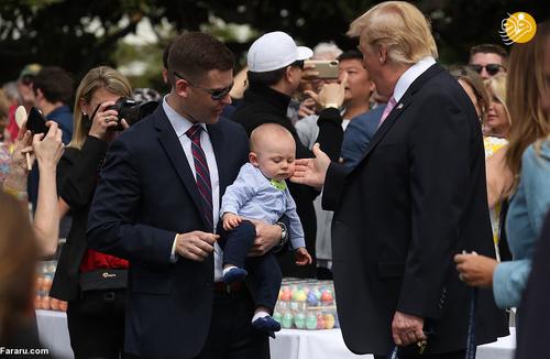 مراسم عید پاک به میزبانی ترامپ و همسرش (عکس)