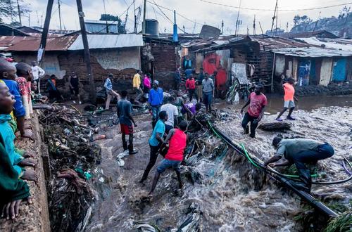 سیل در پایتخت کنیا/ گتی ایمجز