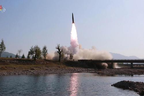 تصویری از آزمایش موشکی اخیر کره شمالی / یونهاپ