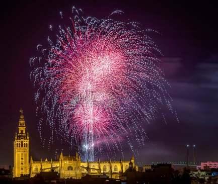 آتش بازی در جریان جشنواره بهاری در شهر