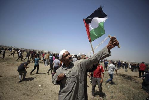 اعتراضات فلسطینیها در مرز غزه و اسراییل در سالروز