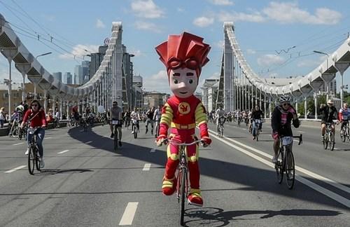 جشنواره دوچرخه سواری در شهر مسکو روسیه/ رویترز