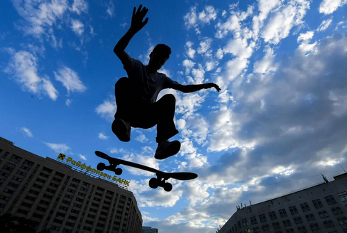اسکیت سواری در شهر مسکو روسیه/ خبرگزاری فرانسه