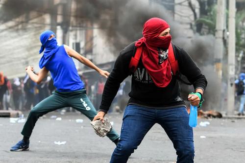 تظاهرات دانشجویی بر ضد رییس جمهوری هندوراس/ خبرگزاری فرانسه