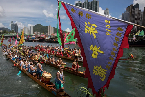 جشنواره قایقرانی اژدها در هنگکنگ/EPA