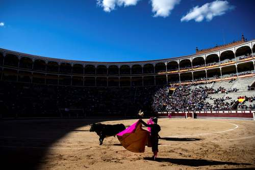 گاوبازی در مادرید اسپانیا/EPA