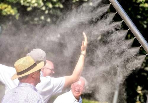 موج گرمای کمسابقه در اروپا. شهر لیل فرانسه/ خبرگزاری فرانسه