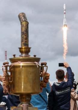 پرتاب راکت ماهوارهبر سایوز 2 روسی به فضا/ ایتارتاس