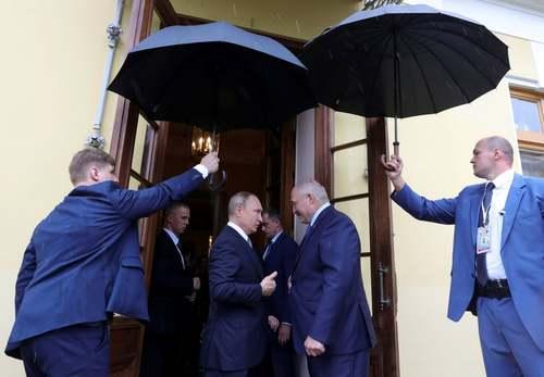 دیدار روسای جمهوری روسیه و بلاروس در شهر