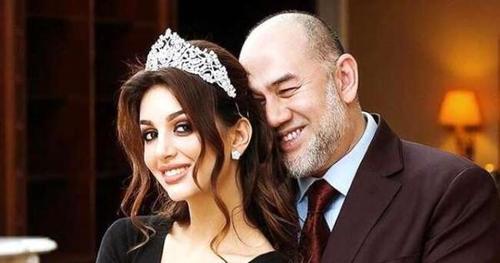 پادشاه پیشین مالزی و ملکه زیبایی روس