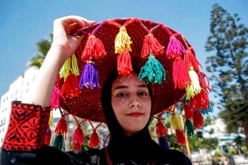 جشنواره لباسهای محلی فلسطین در باریکه غزه/ خبرگزاری فرانسه