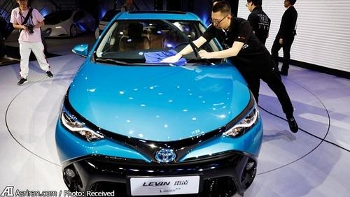 تویوتا لوین پلاگین هیبرید در نمایشگاه خودروی پکن، چین