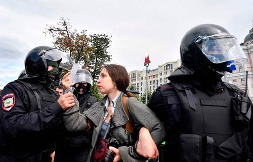 بازداشت گسترده پلیس/ خبرگزاری فرانسه AFP