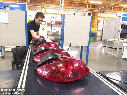 تولید چراغ های پژو 206