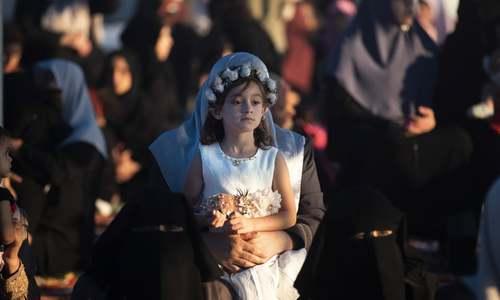 مراسم عید قربان در باریکه غزه/ آسوشیتدپرس