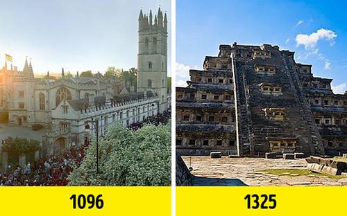دانشگاه آکسفورد حدود ۲۰۰ سال قبل از تشکیل امپراتوری آزتک تاسیس شد.