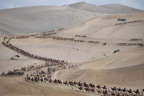 تور شترسواری گردشگران در چین/ گتی ایمجز