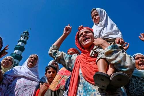تظاهرات مسلمانان در سرینگر کشمیر علیه دولت هند/ خبرگزاری فرانسه