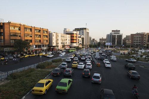 خیابان های پرترافیک مرکز تهران