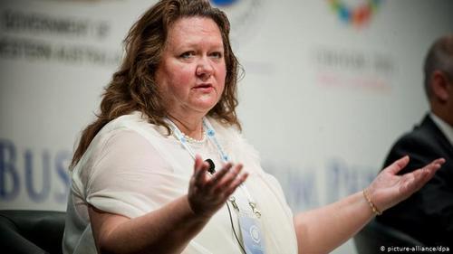 میزان دارایی این زن کارآفرین استرالیایی و مالک معادن سنگ ۱۵،۲ میلیارد دلار است. با مرگ پدر در سال ۱۹۹۲ جینا ۶۵ ساله مالک و وارث بزرگترین شرکت جهانی معدن سنگ آهن هنکاک می شود. جینا برای به تملک این میراث یکسال تمام با سه فرزند و نامادری خود، رز پورتئوس، دعوای حقوقی داشت. جینا راینهارت ثروتمندترین زن استرالیا محسوب می شود.