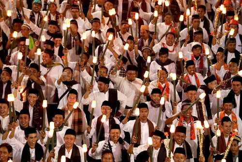 مراسم آغاز سال نو هجری قمری در شهر جاکارتا اندونزی/ EPA