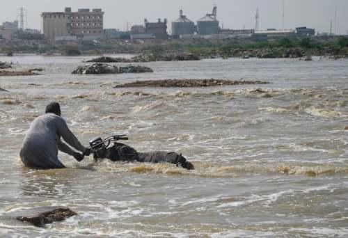 سیل در شهر کراچی پاکستان/ خبرگزاری فرانسه