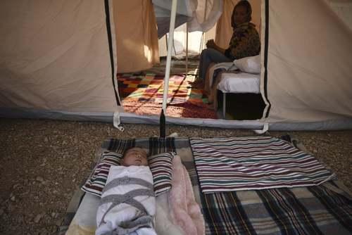 یک اردوگاه اسکان پناهجویان در یونان/ آسوشیتدپرس