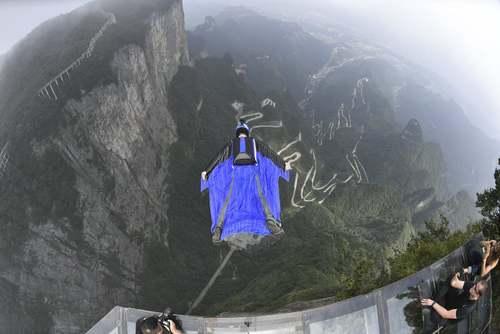 مسابقات لیگ جهانی پرش با لباسهای پرنده در چین/ گتی ایمجز