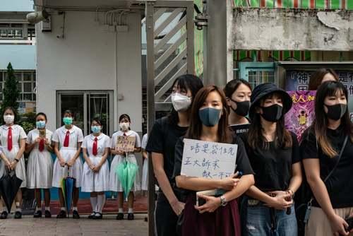 تظاهرات دانش آموزان هنگ کنگی علیه چین/ گتی ایمجز
