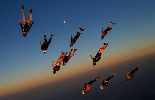 پرش از ارتفاع در ایالت تگزاس آمریکا/ عکس روز وب سایت