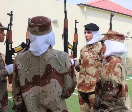 اولین نمایش نظامی زنان در عربستان