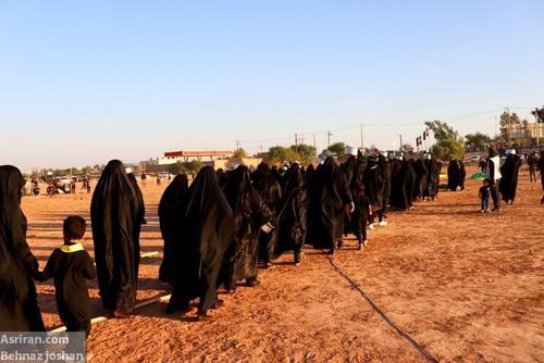 تصاویر/ آیین تدفین نمادین شهدای کربلا در حمیدیه - خوزستان