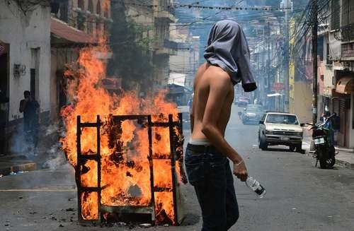 تظاهرات احزاب مخالف دولت در روز استقلال هندوراس/ خبرگزاری فرانسه