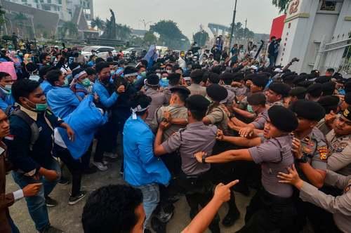 تظاهرات دانشجویی در جزیره