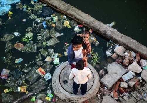 سیل در الله آباد هندوستان/ خبرگزاری فرانسه