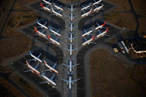 پارکینگ هواپیماهای زمینگیر شده بوئینگ 737 مکس در ایالت واشنگتن آمریکا/ رویترز