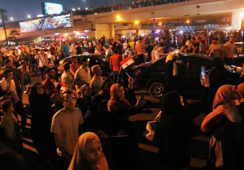 تظاهرات شبانه مردم قاهره علیه دولت عبدالفتاح سیسی رییس جمهوری مصر