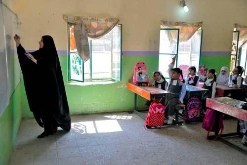 نخستین روز مدرسه در شهر نجف عراق/ گتی ایمجز