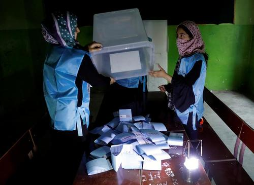 شمارش آرای انتخابات ریاست جمهوری افغانستان/ رویترز