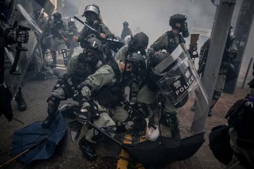 دستگیری تظاهرات کنندگان ضد چین در هنگ کنگ/ گتی ایمجز