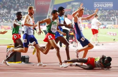 مسابقه دو 1500 متر مردان؛ مسابقات جهانی دو ومیدانی؛ ورزشگاه خلیفه شهر دوحه قطر/ گتی ایمجز