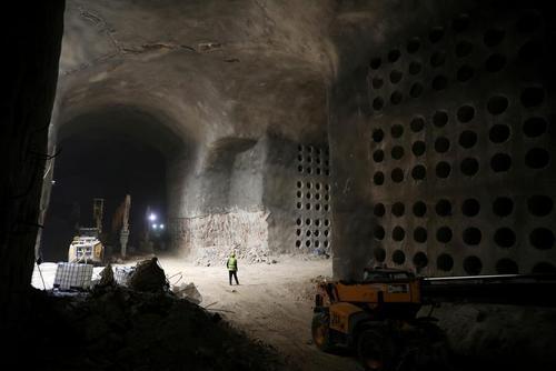 عملیات ساخت گورستان زیر زمینی یهودیها در شهر قدس/ رویترز