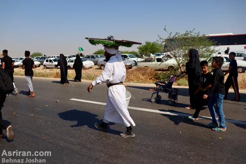 تصاویر/ تردد زائران اربعین در مسیر اهواز به چذابه