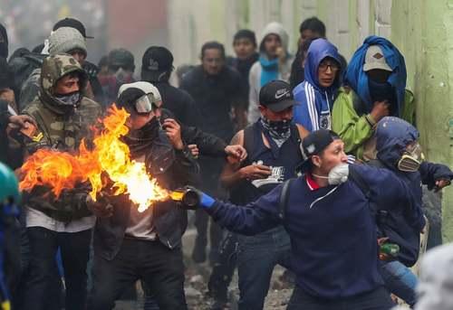 تظاهرات علیه سیاستهای ریاضت اقتصادی دولت اکوادور/ رویترز